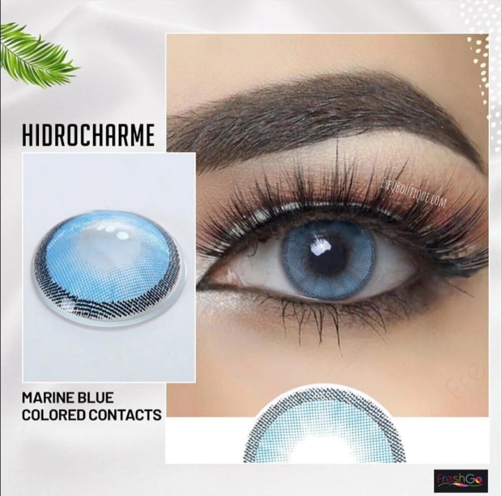 FRESHGO HIDROCHARME BLUE (MARINE) COSMETIC COLORED CONTACT LENSES