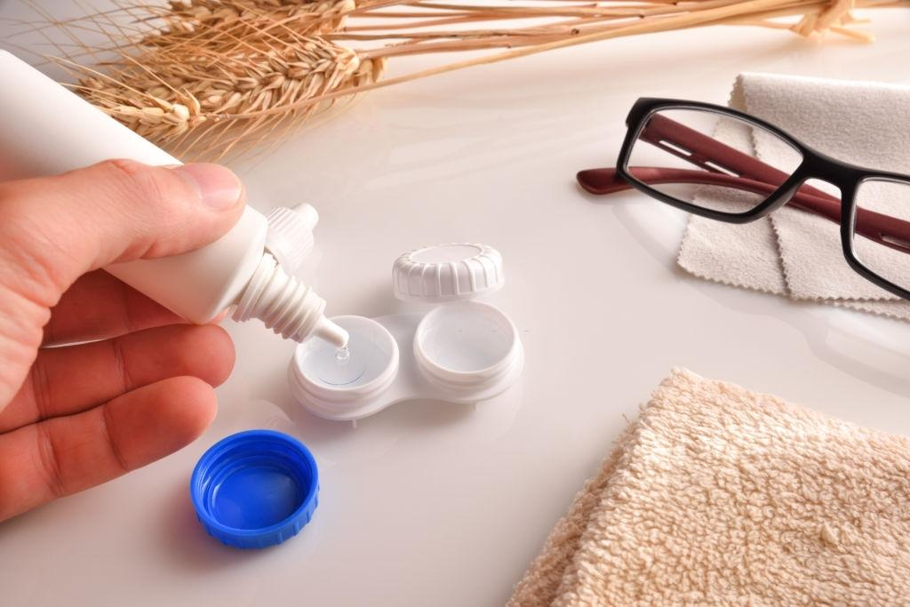 You must have proper contact lenses solution recommended by an eye doctor!